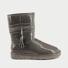 Угги UGG Jimmy Choo Zipper Leather Grey