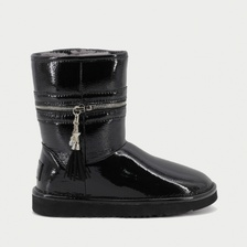 Угги UGG Jimmy Choo Zipper Leather Black