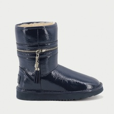 Угги UGG Jimmy Choo Zipper Leather Navy