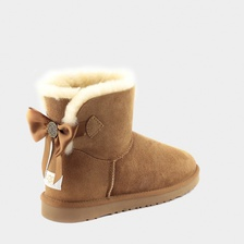 Угги UGG Mini Bailey Bow Medallion Chestnut