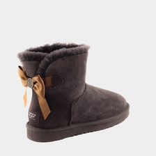 Угги UGG Mini Bailey Bow Medallion Chocolate