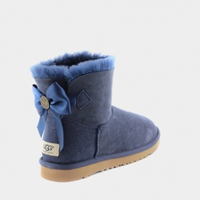 Угги UGG Mini Bailey Bow Medallion Navy