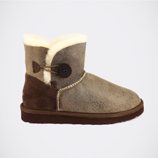 Угги UGG Mini Bailey Button Bomber Chocolate