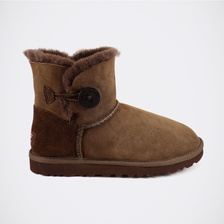 Угги UGG Mini Bailey Button Chocolate