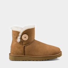 Угги UGG Mini Bailey Button II Chestnut