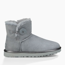 Угги UGG Mini Bailey Button II Metallic Geyser