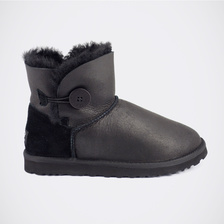 Угги UGG Mini Bailey Button Metallic Black