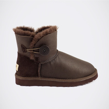 Угги UGG Mini Bailey Button Metallic Chocolate