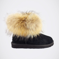 Угги UGG Mini Fox Fur Black